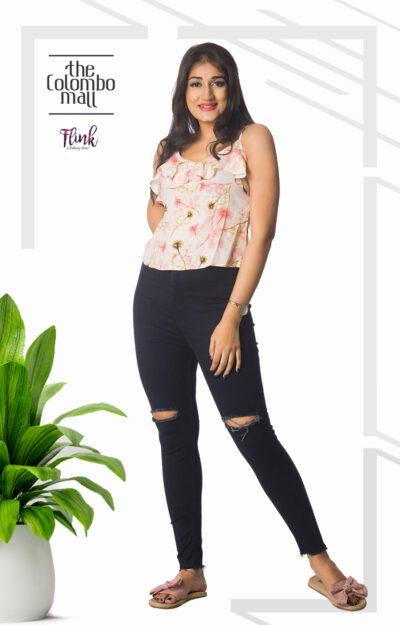 Pink Floral Frill Cami