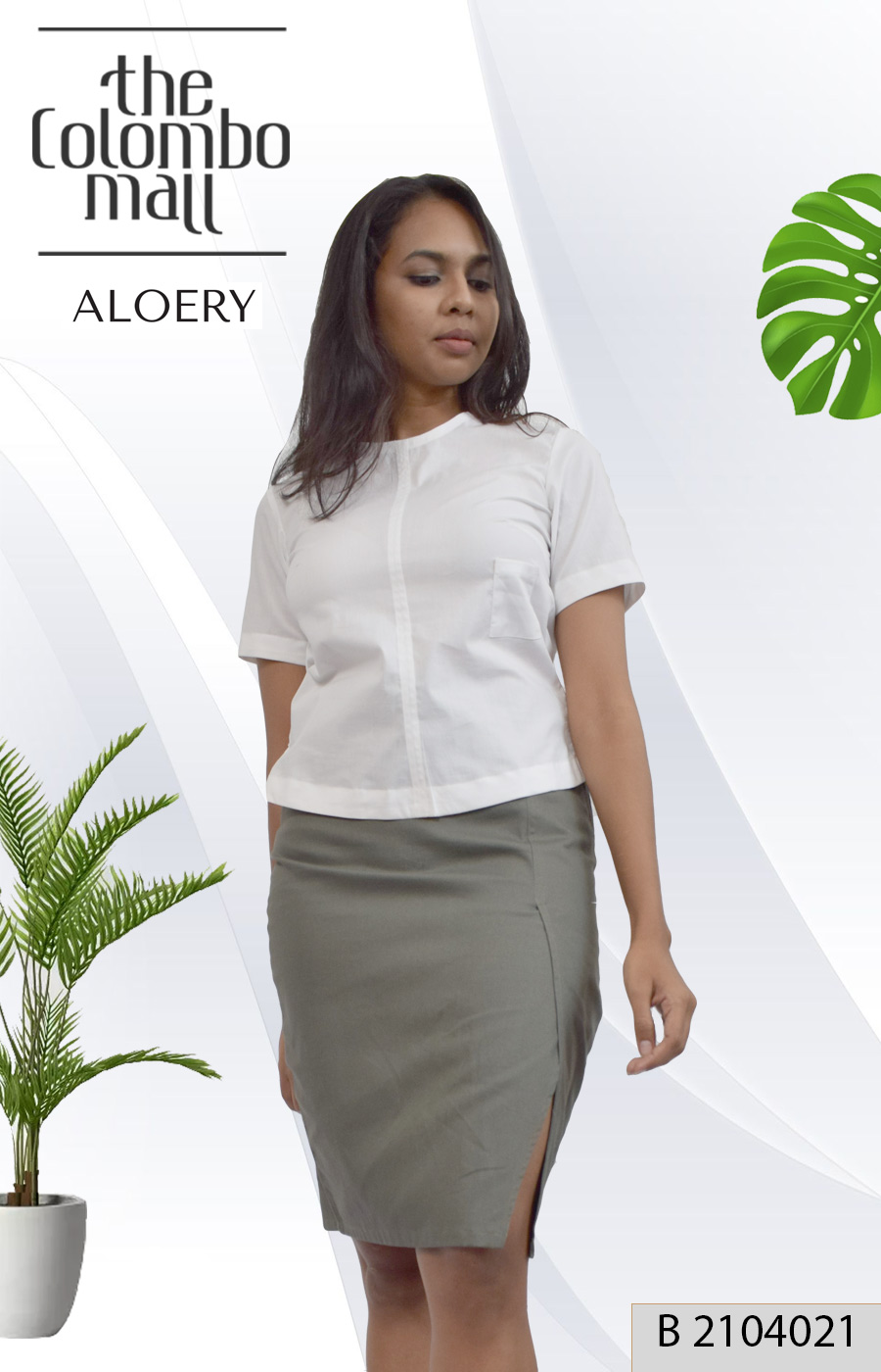 Cotton Sleeved Fitted Blouse