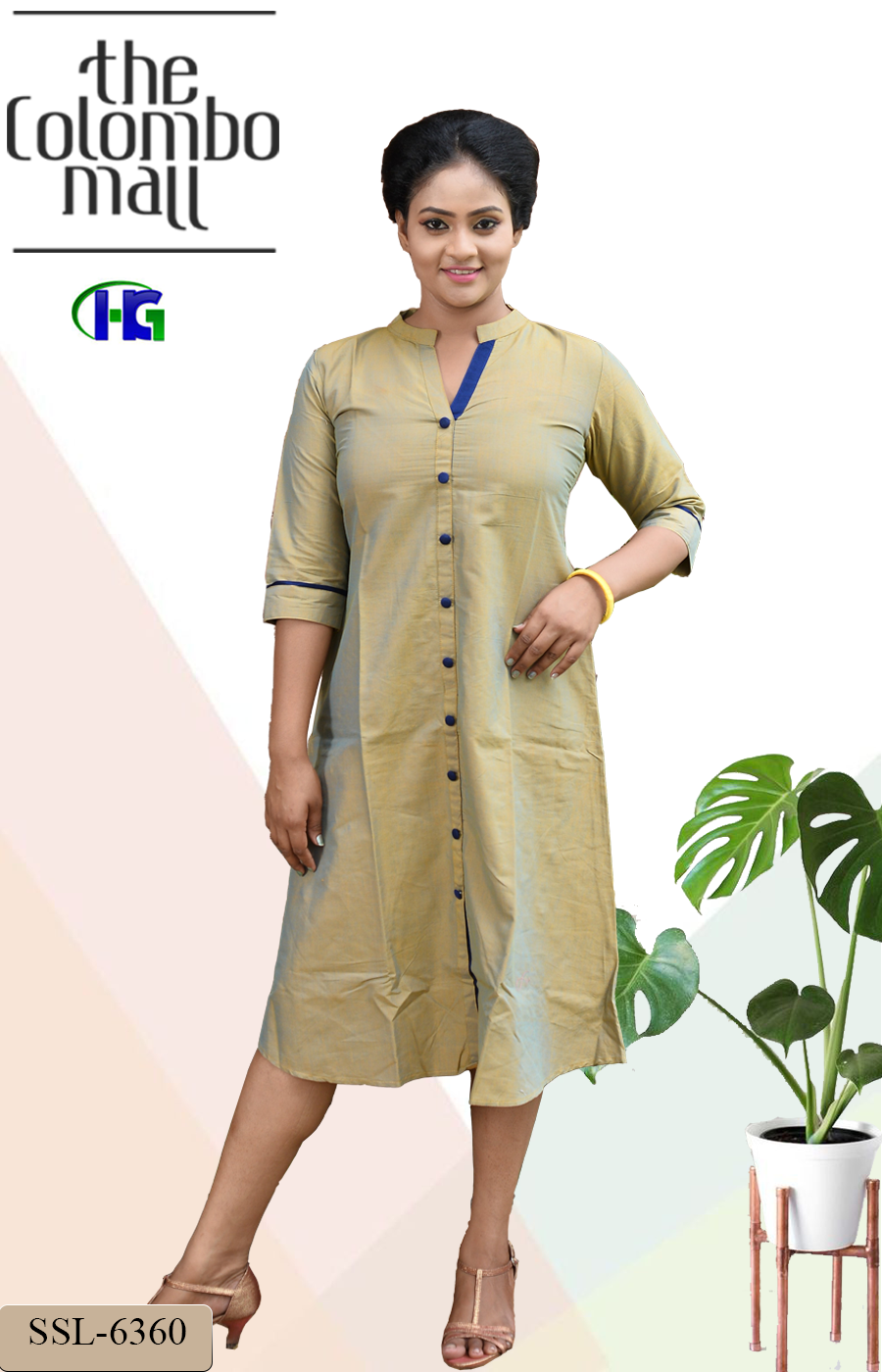 Cotton Two Tone Frock